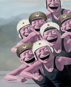 Yue Minjun, Hats Series, Armed Forces