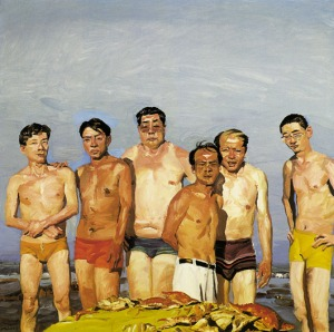 "Included in the Mahjong exhibition: Liu Xiaodong, ""Eating"", 2000"