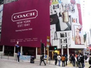 Coach opened one of its largest Asian locations in Hong Kong last summer: The company is looking to expand quickly in the lucrative Mainland market as well