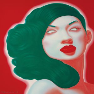 "Included in Ravenel's December HK auction: Contemporary Chinese artist Feng Zhengjie's, ""Chinese Portrait Series No. 2"" (2008)"