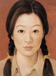 "As the RMB appreciates and becomes more convertible, Chinese assets like art look to be a smart hedge. Painting: Chinese contemporary artist Qi Zhilong's ""A Chinese Girl In Male Military Uniform No. 2"" (2006)"