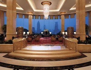 The Pudong Shangri-La in Shanghai offers stunning views of the waterfront