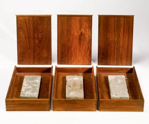 "Up for auction in Hong Kong on October 6: Ai Weiwei's ""A Gift from Beijing (set of three works)"""