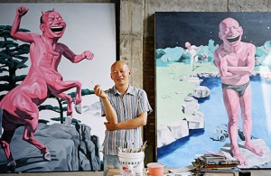 Top Chinese artists like Yue Minjun remain popular among Asian auctioneers and art collectors alike